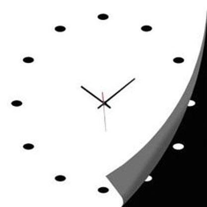 Orologio in vetro bianco/nero