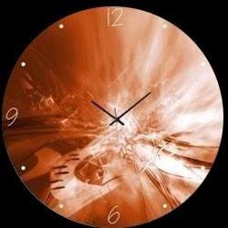 Orologio tondo in vetro astratto