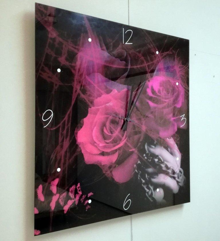 Orologio da muro con rose