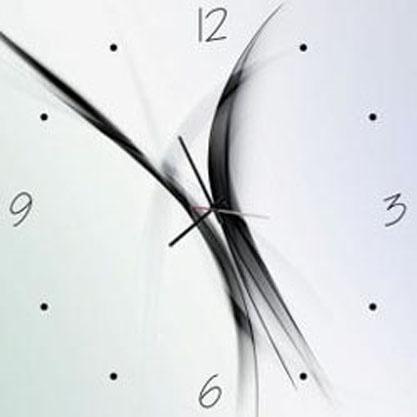 Orologio in vetro qaudrato