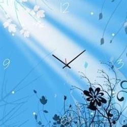 Orologio in vetro azzurro fantasia