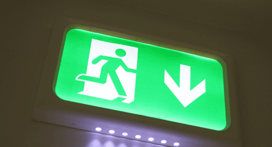 LED lighting for an emergency exit board