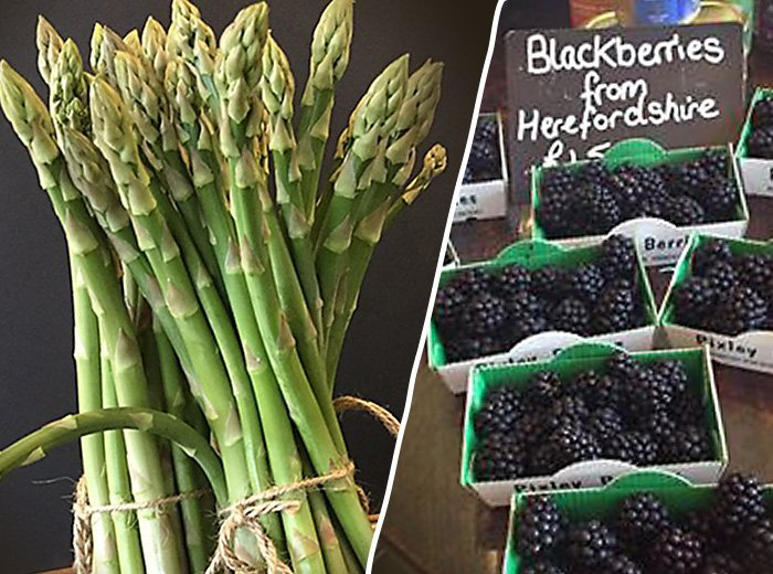 Asparagus and Blackberries