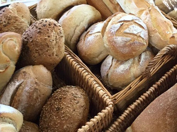 Freshly made bread and cakes