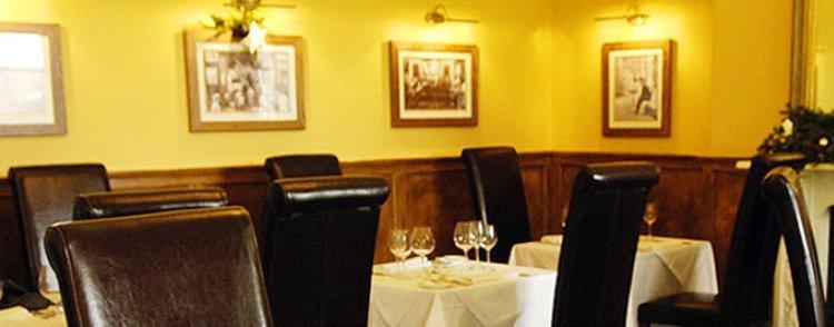lighting inside the restaurant