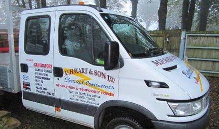 white mobile van