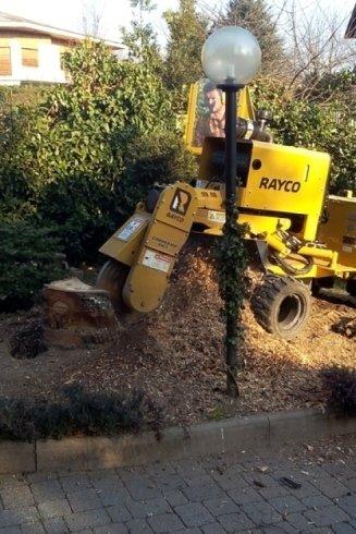La ditta I Giardini del Re dispone di macchine motozappa per la rimozione delle radici.
