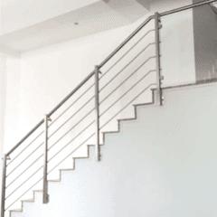 Parapetto scale acciaio