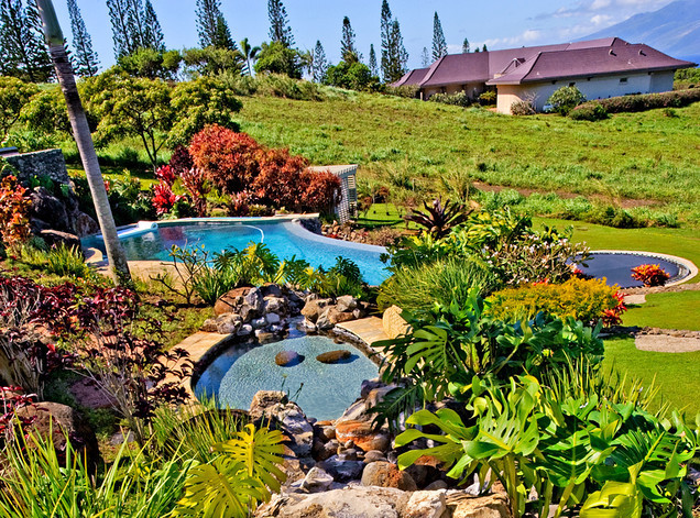 Clean pool after pool maintenance in Kihei, Maui