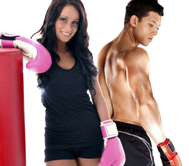 Fitness Kickboxing Man and Woman
