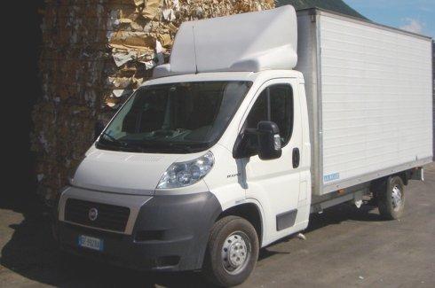 camions de transport de déchets