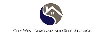city west removals and self storage business logo