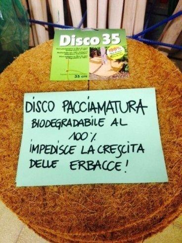 disco pacciamatura biodegradabile per impedire la crescita delle erbacce
