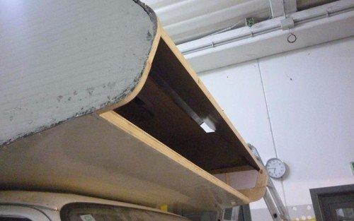 Vista esterna del tetto del camper
