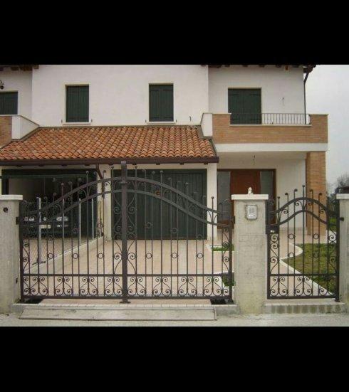 cancello ferro battuto, cancellata in ferro battuto, cancello con arco