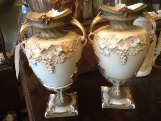 two ornate vases