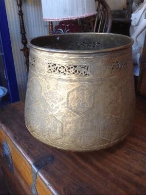 engraved pewter bowl