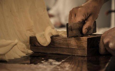 Lavorazione burro a mano torin