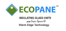 proud supplier and user of ecopane insulating glass unite warm edge technology