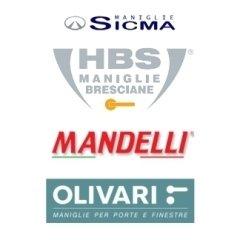 maniglie per porte, maniglie per finestre, Sicma, HBS, Mandelli, Olivari