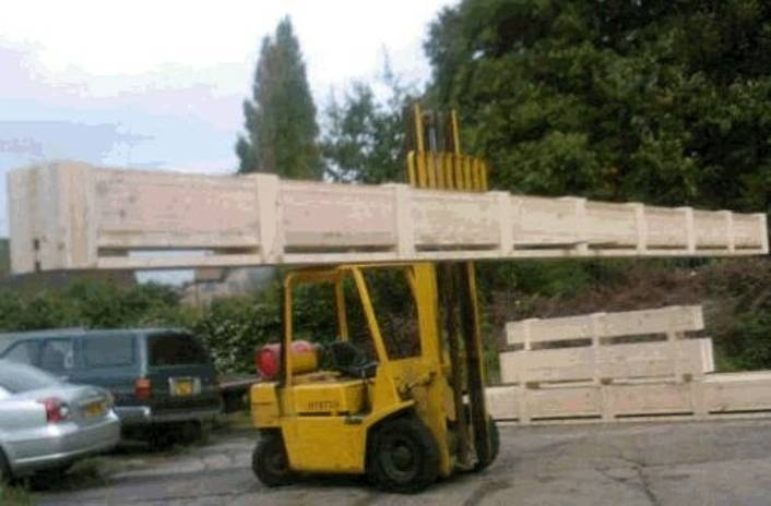 wood being transported