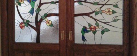 fiori su vetro