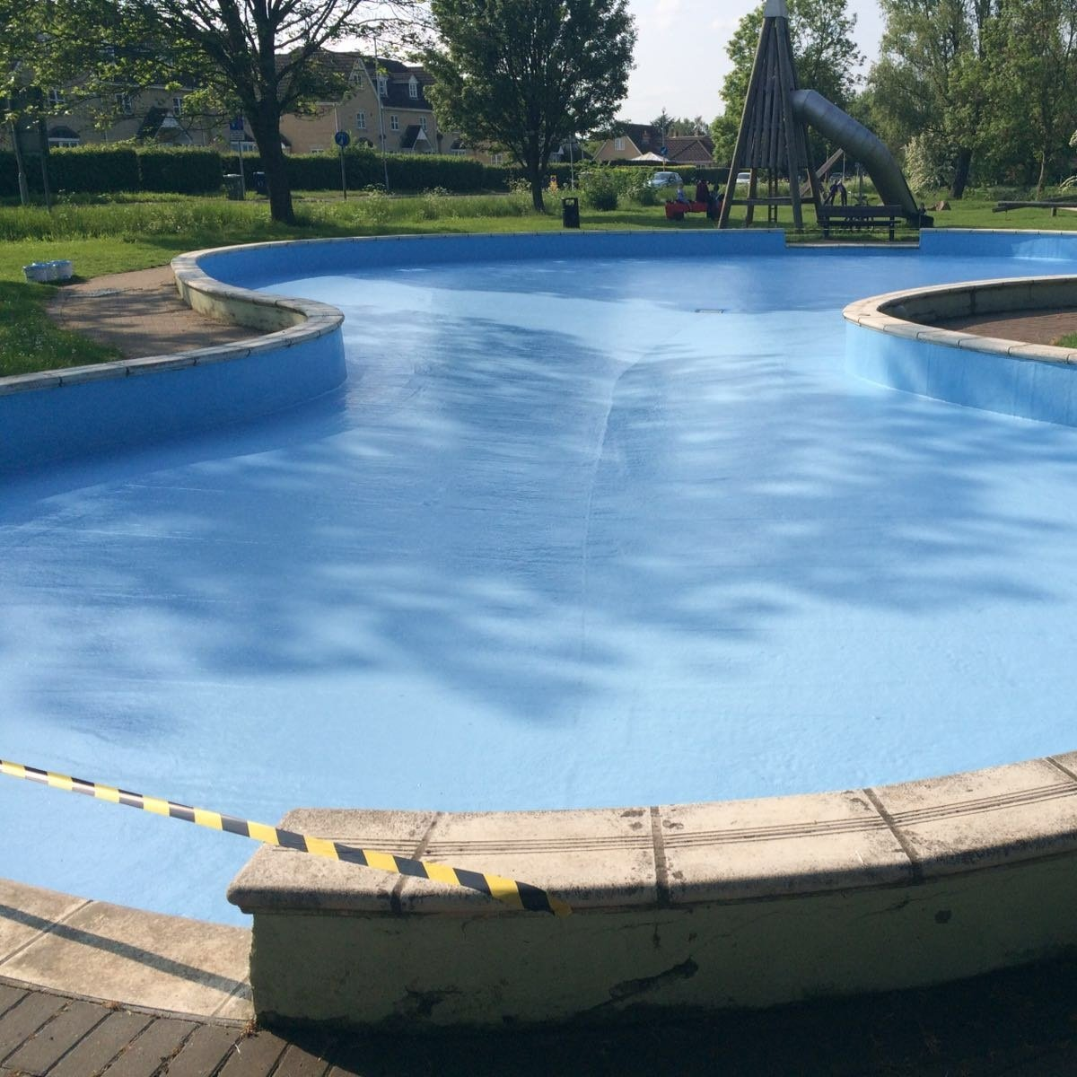 after pool lining