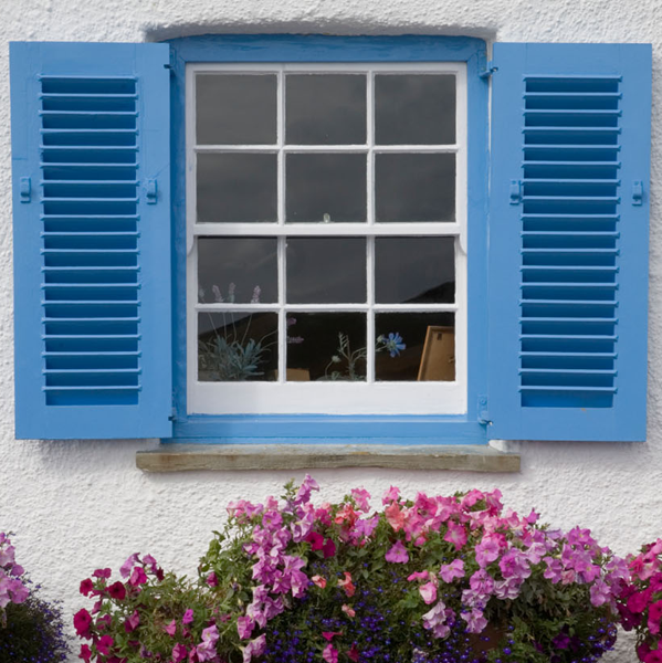 traditional sash window