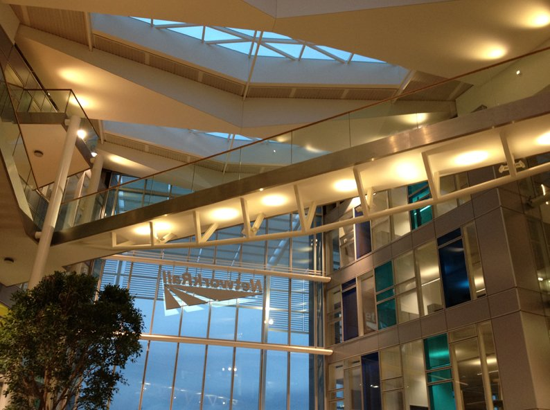 Bridge inside a building