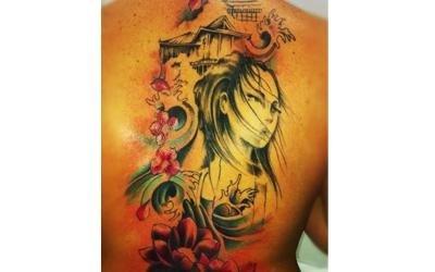 tatuaggio ispirato al giappone