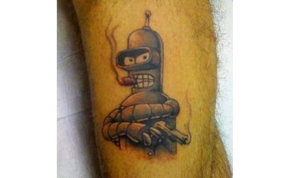 tatuaggio ispirato a cartoni