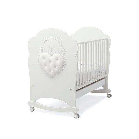 Lettino per neonati bianco con cuore