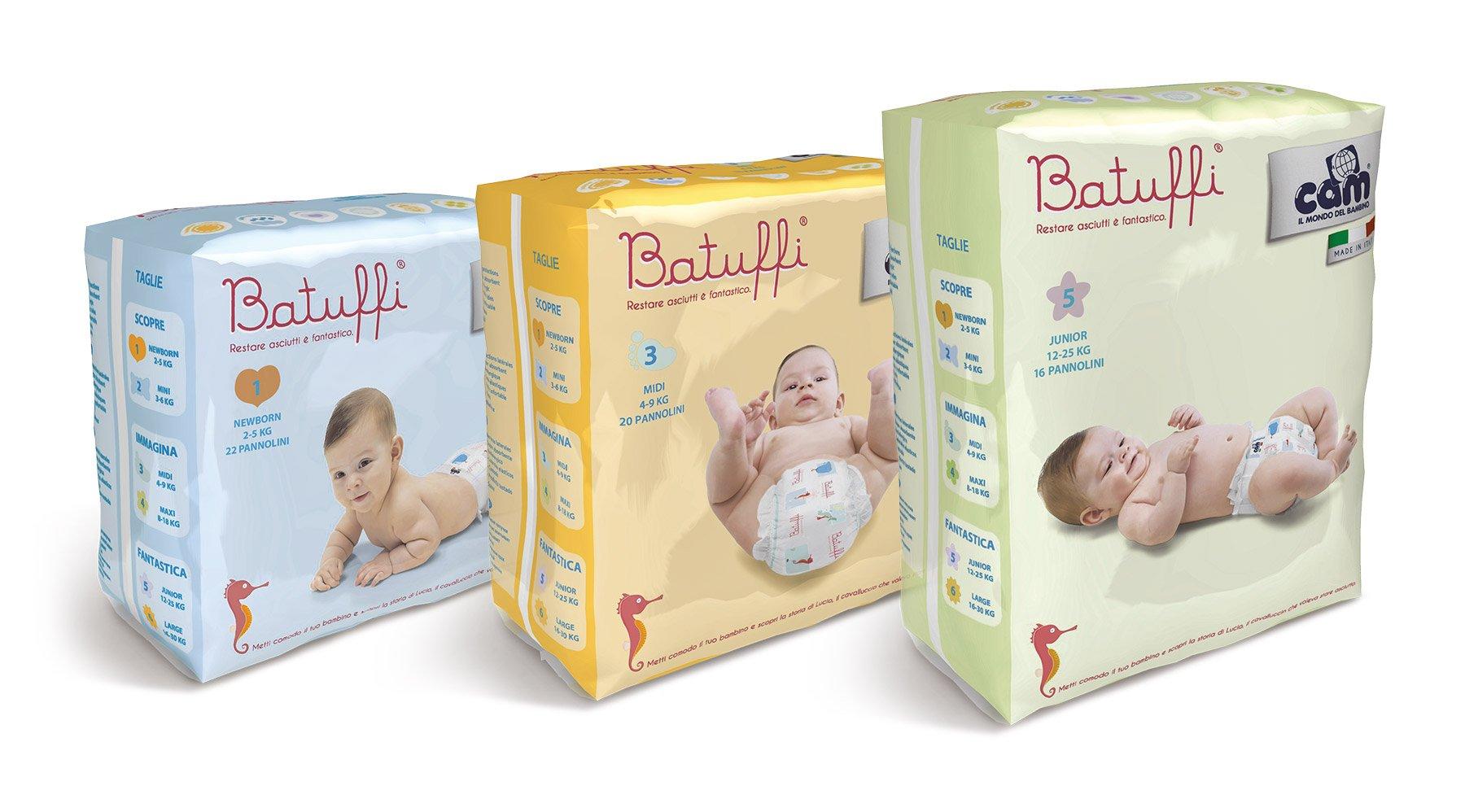 Pannolini per neonati di diverse età