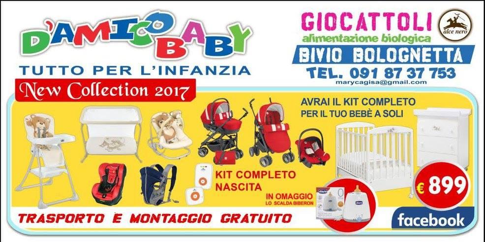 una brochure con dei passeggini,un seggiolone e altri articoli per bambini