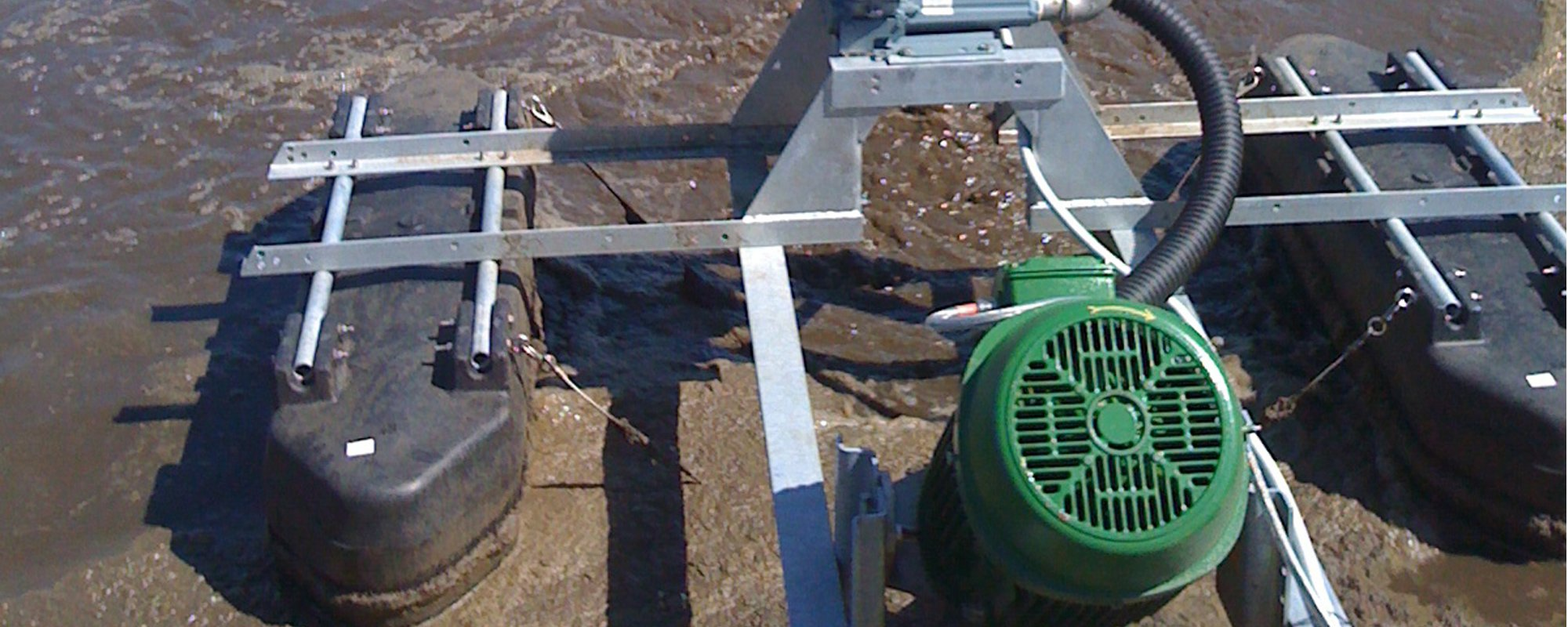 Top view of the pump