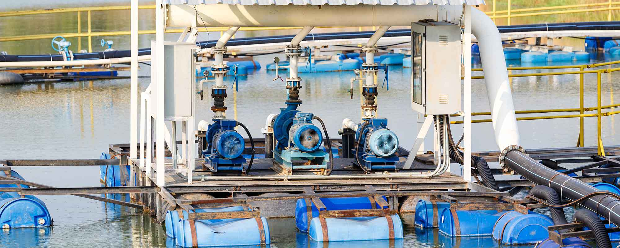Multiple heavy pumps installed