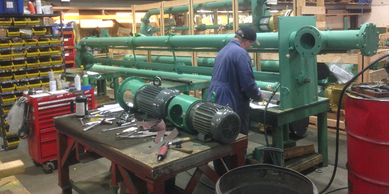 Manufacturing of pump system by professional