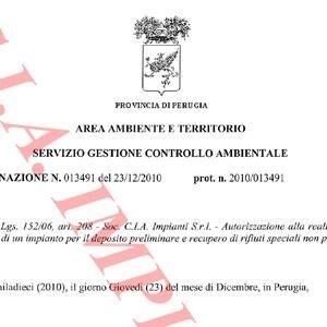 Determina Dirigenziale della Provincia di Perugia