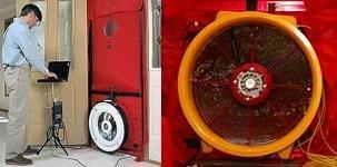 Door fan test - blower door test
