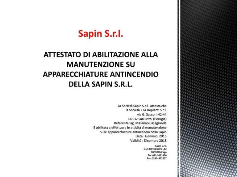 Attestato Sapin