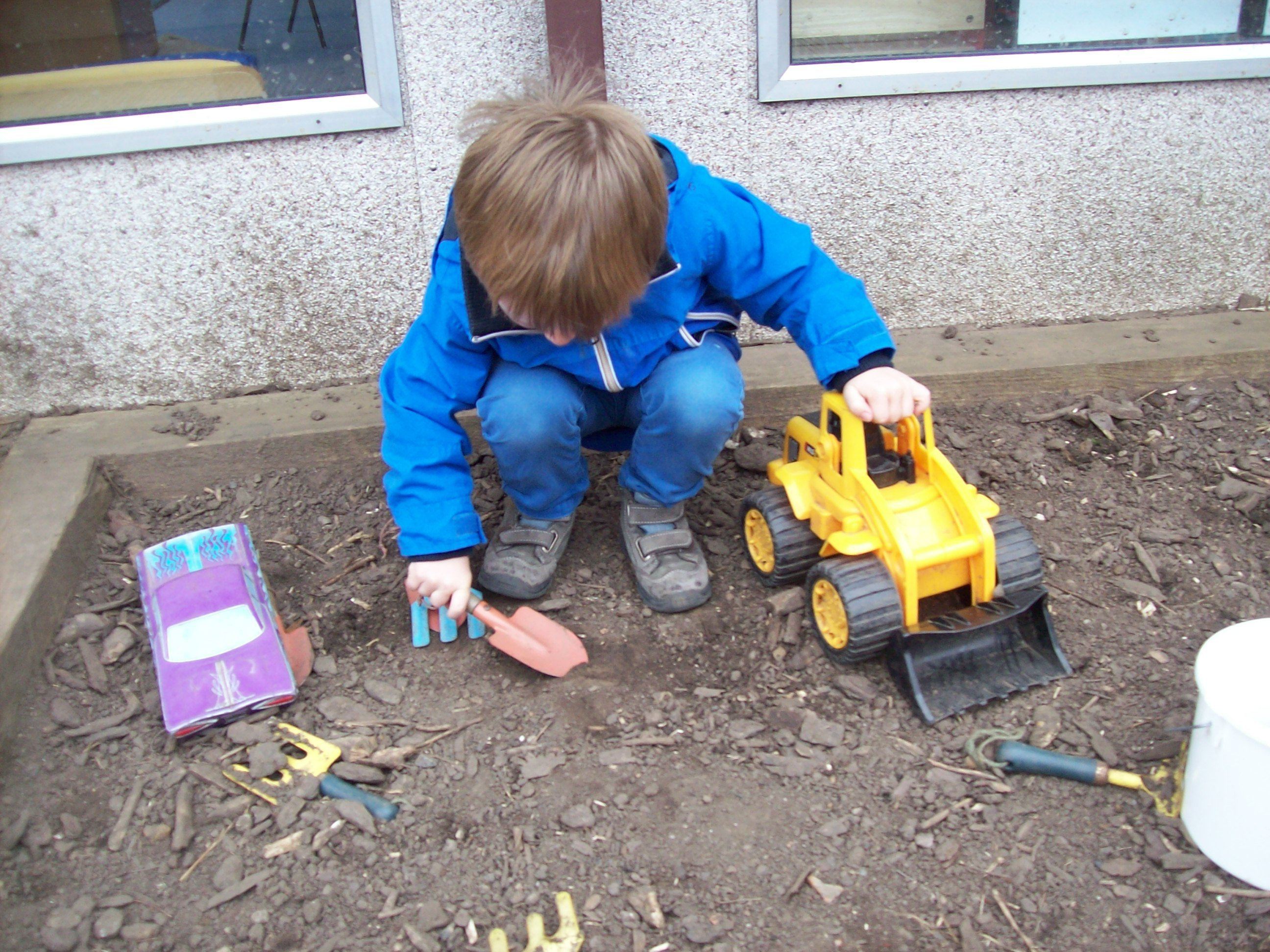 A young child at our nursery in Casterton