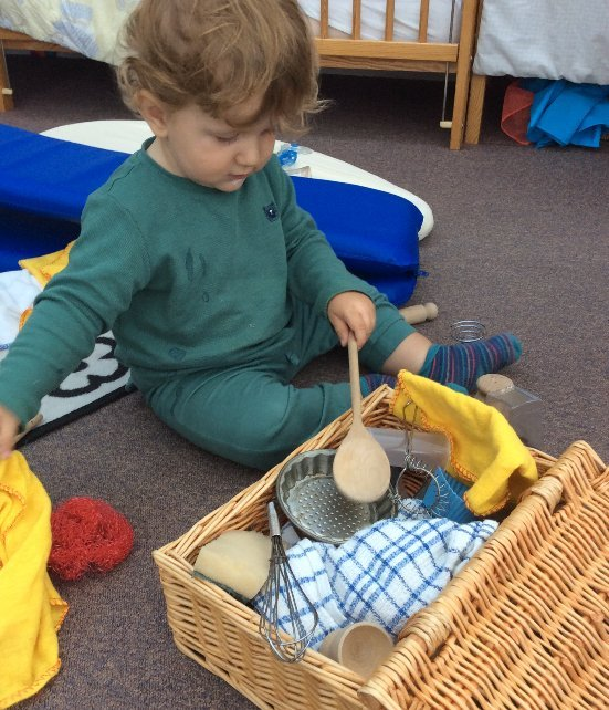 Two children playing at our crèche in Casterton