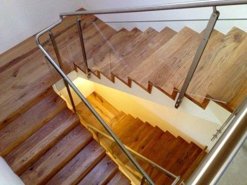rovere, scala in legno, spigolo vivo, ff pavimenti, fatto su misura