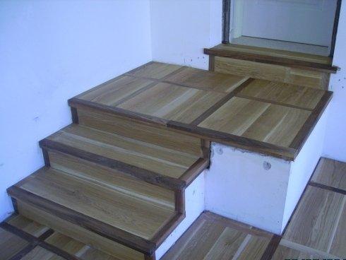 rovere, noce, scala in legno, spigolo vivo, ff pavimenti, fatto su misura
