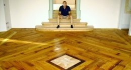ff pavimenti, fabio fondriest, pavimenti in legno, intarsi, legno di noce,