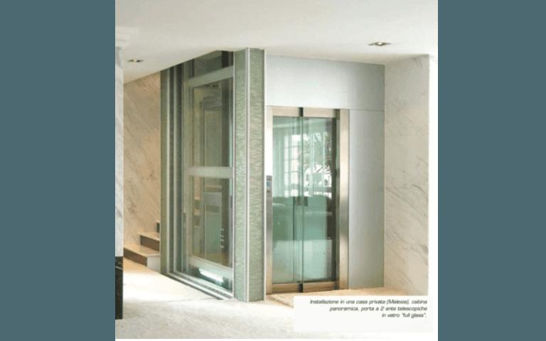 piattaforme elevatrici vetro