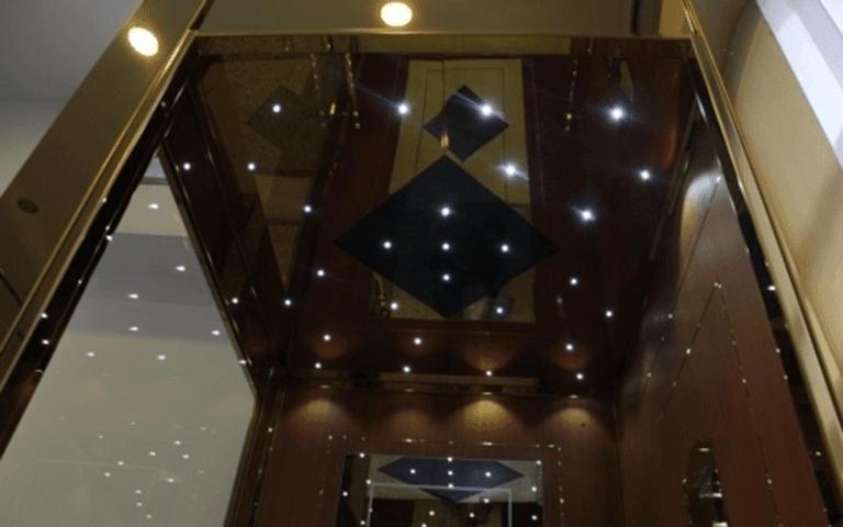 cabina ascensore luci a led