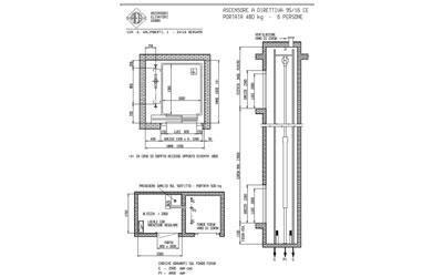 progettazione ascensore sei persone