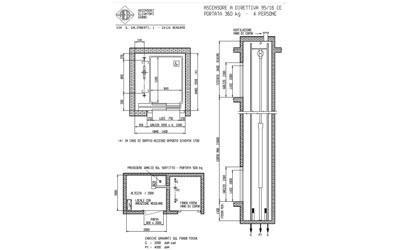 progettazione ascensore quattro persone