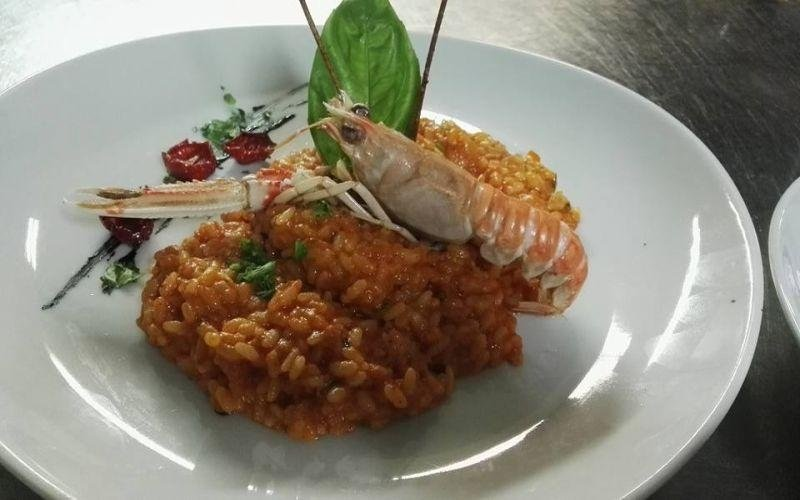 Risotto with scampi